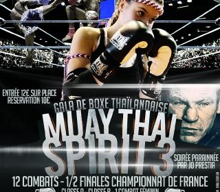 Affiche gala Muay Thaï Spirit 3